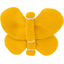 Barrette petit papillon jaune ocre - PPMC