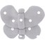 Butterfly hair clip light grey spots