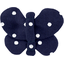Butterfly hair clip navy blue spots - PPMC