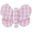 Butterfly hair clip pink gingham - PPMC