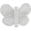 Butterfly hair clip white sequined - PPMC