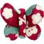 Barrette petit papillon cerisier rubis jade - PPMC