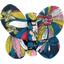Barrette petit papillon dahlia rose marine - PPMC
