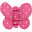 Barrette petit papillon etoile or fuchsia - PPMC
