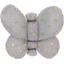 Barrette petit papillon etoile or gris - PPMC
