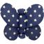 Barrette petit papillon etoile marine or - PPMC