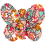 Butterfly hair clip peach flower - PPMC