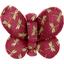 Barrette petit papillon libellule mini rubis - PPMC