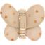 Barrette petit papillon pois cuivré rose