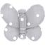 Barrette petit papillon pois gris clair - PPMC