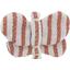 Barrette petit papillon rayures cuivrées - PPMC