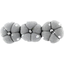 Pumpkin hair slide silver grey spots - PPMC