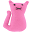 Small cat hair slide pink - light cotton canvas