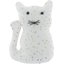 Small cat hair slide white sequined - PPMC