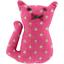 Petite barrette chat etoile or fuchsia - PPMC