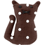 Petite barrette chat pois marron