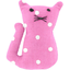 Petite barrette chat pois rose