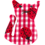Small cat hair slide ladybird gingham - PPMC