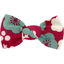 Small bow hair slide ruby cherry tree - PPMC