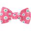 Pasador pequeño lazo pequeñas flores  rosadas - PPMC