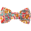 Small bow hair slide peach flower - PPMC