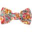 Barrette petit noeud floral pêche - PPMC
