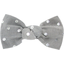 Small bow hair slide silver grey spots - PPMC