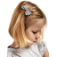 Small bow hair slide light grey spots