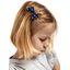 Small bow hair slide navy blue spots