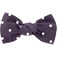 Small bow hair slide plum spots - PPMC