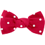 Small bow hair slide red spots - PPMC