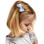 Small bow hair slide sky blue gingham