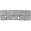 Small pleated hair slide silver grey spots - PPMC