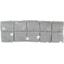 Petite barrette plissée  pois argent gris - PPMC