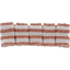 Small pleated hair slide copper stripe