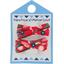 Barrette clic-clac mini ruban pétale paprika - PPMC