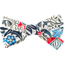 Ribbon bow hair slide azulejos - PPMC