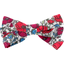 Ribbon bow hair slide poppy