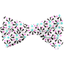 Ribbon bow hair slide neon shards - PPMC