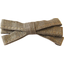 Ribbon bow hair slide gold linen - PPMC