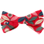 Ribbon bow hair slide paprika petal
