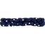 Plait hair slide navy blue spots - PPMC