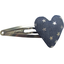 Heart hair-clips silver star jeans - PPMC