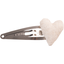 Heart hair-clips  glitter linen - PPMC