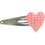 Heart hair-clips vichy peps