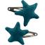 Star hair-clips bleu vert