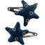 Star hair-clips bulle bronze marine - PPMC