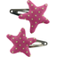 Star hair-clips fuchsia gold star - PPMC