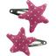 Pasador de pelo estrella estrella de oro fucsia - PPMC