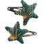 Star hair-clips eventail or vert - PPMC